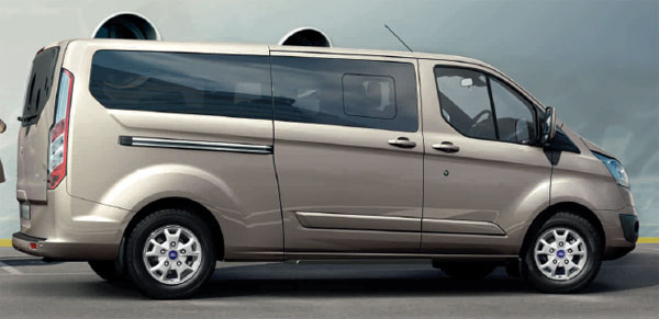 Ford Tourneo Titanium in tectonic silver metallic paint