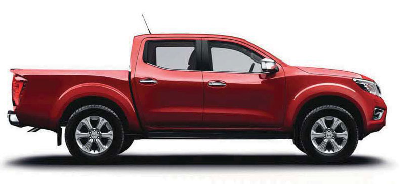 Image of a Nissan Navara Acenta in red