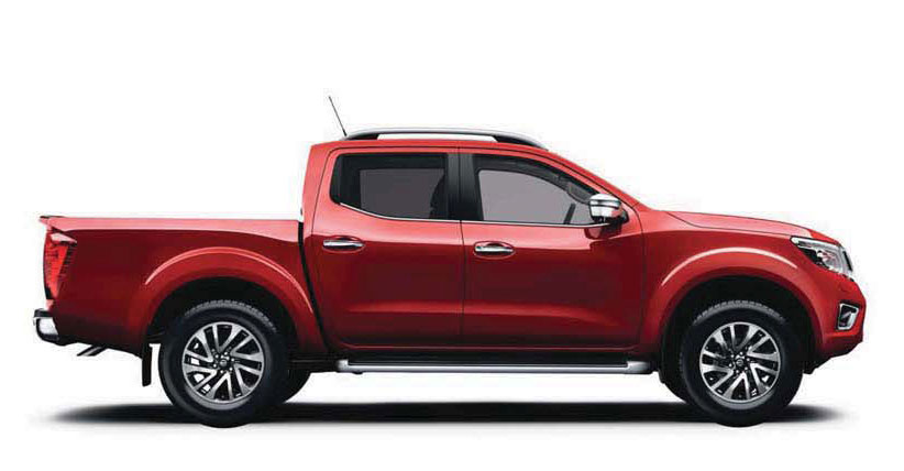 Image of a Nissan Navara Tekna in red