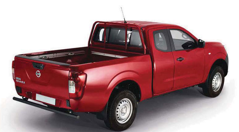 Image of a Nissan Navara Visia King Cab in red