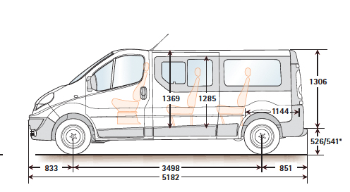 Minibus Dimensions Amp Seating Layouts Common Uk Specific