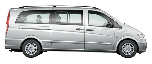 Image of an extra long wheelbase Mercedes Vito Traveliner